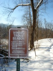 Winter Regs. Sign
