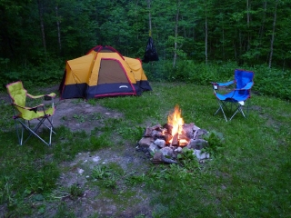 Camp Set Up and Simple.