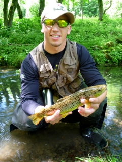 Jake with a Brown Trout