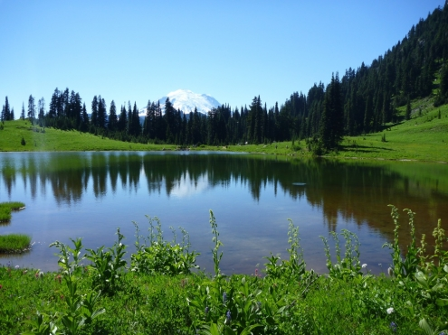 Lake Tipsoo and Mt. Rainer