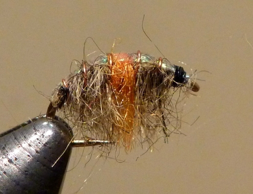 Hot Spot Scud (Orange) tied by the W.F.F.