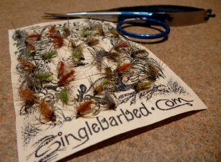 W.F.F. Flies tied with Free Range Dubbing