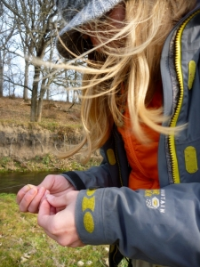 Liz Tying on a #18 BWO 