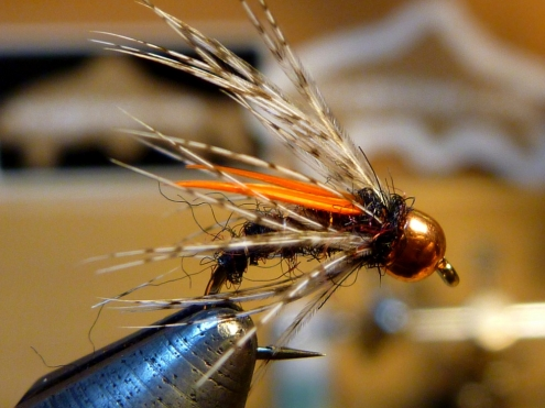 Biot Soft Hackle: Black Claret/Orange