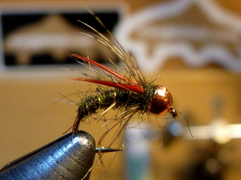 Biot Soft Hackle: Dark Olive/Red