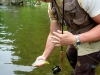 Jake Landing a Small Brown Trout